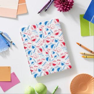 Protection iPad Monstre et Elmo de biscuit motif rouge et bleu de