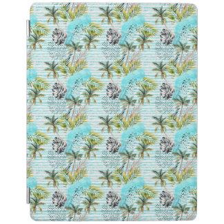 Protection iPad Motif abstrait de palmier d'aquarelle