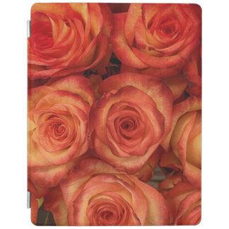 Protection iPad Motif de fleurs de rose de couleur rouge