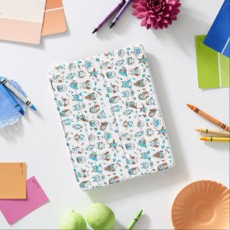 Protection iPad Motif de hiboux de brun bleu