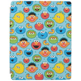 Protection iPad Motif de visages de Sesame Street sur le bleu
