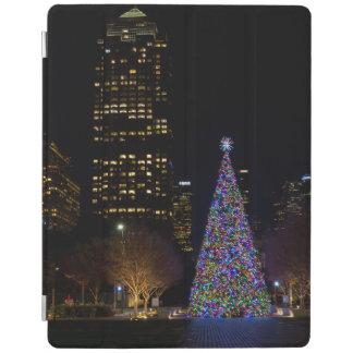 Protection iPad Noël la nuit parc de terriers