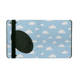 Protection iPad Nuages blancs de bande dessinée sur le motif bleu