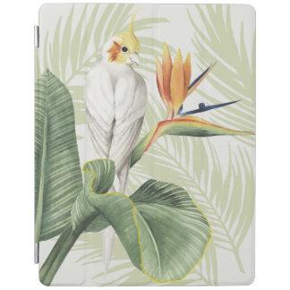 Protection iPad Palmettes avec l'oiseau blanc