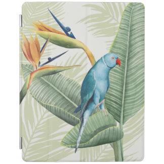 Protection iPad Palmettes avec l'oiseau bleu