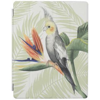 Protection iPad Palmettes avec l'oiseau noir