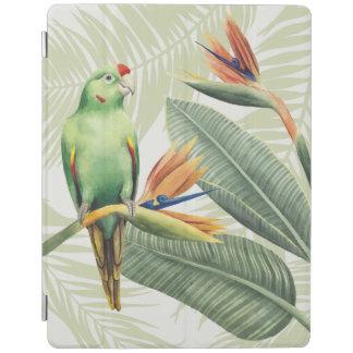 Protection iPad Palmettes avec l'oiseau vert