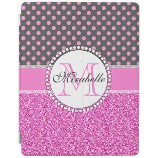 Protection iPad Parties scintillantes roses et pois rose sur le