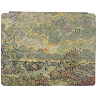 Protection iPad Paysage d'automne de Vincent van Gogh  , 1890