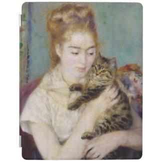 Protection iPad Pierre une femme de Renoir | avec un chat