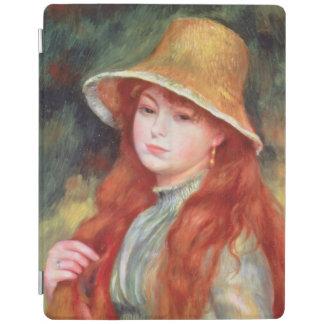 Protection iPad Pierre une jeune fille de Renoir | dans un chapeau