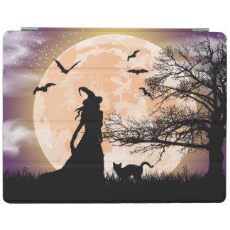Protection iPad Pleine lune mystique de sorcière et de chat