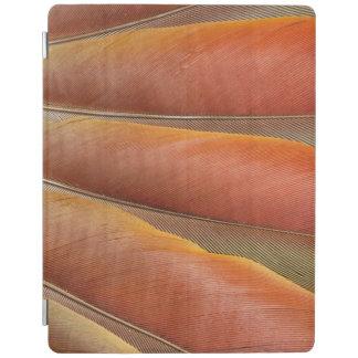 Protection iPad Plumes Rouge-Oranges d'ara d'écarlate