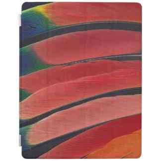 Protection iPad Plumes rouges de perroquet d'Amazone