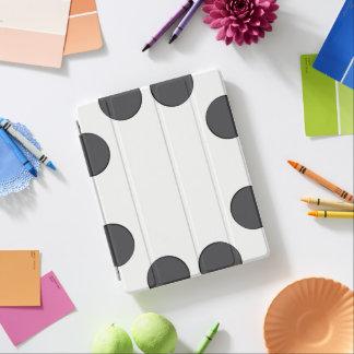 Protection iPad Points gris-foncé Checkered