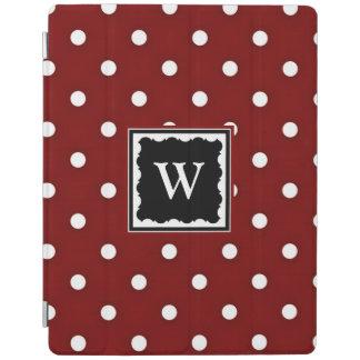 Protection iPad Pois rouge foncé et blanc, modèle