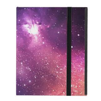 Protection iPad Pourpre et galaxie et étoiles de marine