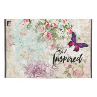 """Protection iPad Pro 9.7"""" Obtenez la citation inspirée et le papillon rose"""