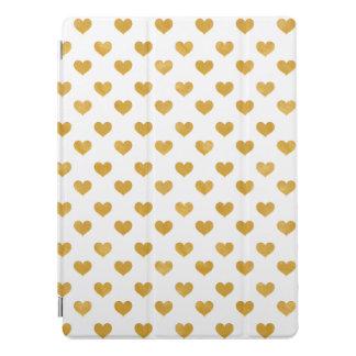 Protection iPad Pro Blanc de l'amour 2018 - coeur d'or