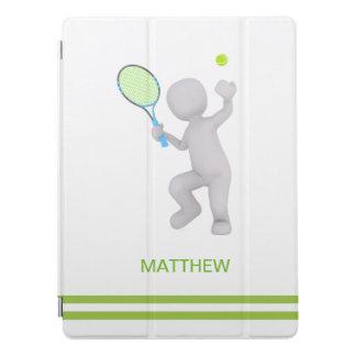 Protection iPad Pro boule de raquette de tennis de joueur de tennis 3D