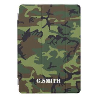 Protection iPad Pro Cover Camouflage vert de région boisée de Brown. Camo