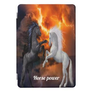 Protection iPad Pro Cover Chevaux combattant dans une mauvaise tempête de