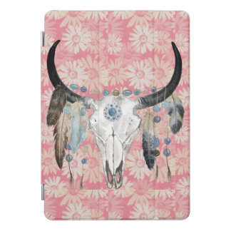 Protection iPad Pro Cover Couverture d'iPad de crâne et de marguerites de
