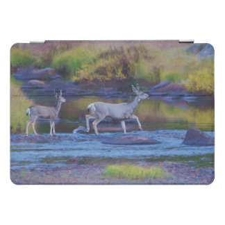 Protection iPad Pro Cover Daine et faon de cerfs communs de mule