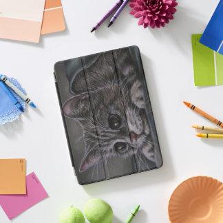 Protection iPad Pro Cover Dessin d'art gris d'animal de chat de chaton