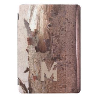 Protection iPad Pro Cover Écorce d'arbre rustique décorée d'un monogramme