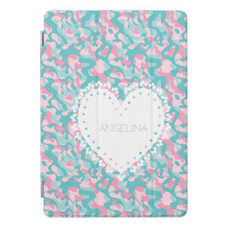Protection iPad Pro Cover Le camouflage Girly de ressort personnalisent