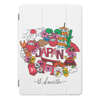 Protection iPad Pro Cover Monogramme. Kawaii Japon mignon