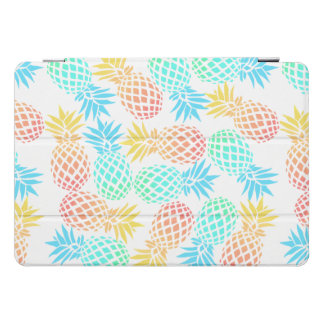 Protection iPad Pro Cover motif coloré tropical d'ananas d'été élégant