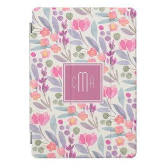 Protection iPad Pro Cover Motif floral d'aquarelle en pastel avec le