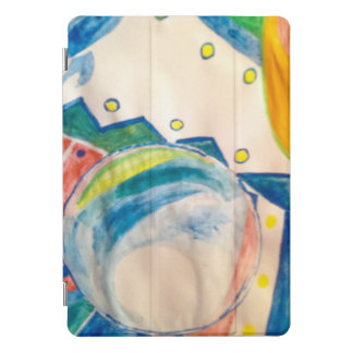 Protection iPad Pro Cover Nappe abstraite avec le verre