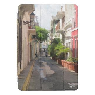 Protection iPad Pro Cover Peinture d'une rue à San Juan, Porto Rico