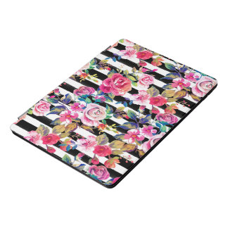 Protection iPad Pro Cover Ressort mignon floral et motif d'aquarelle de