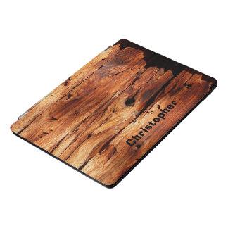 Protection iPad Pro Cover Rocailleux personnalisé par photo en bois patinée