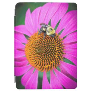Protection iPad Pro Fleur pourpre vive avec l'abeille