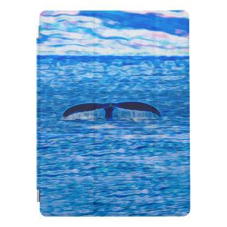 Protection iPad Pro Fractale de queue de baleine bleue et rose