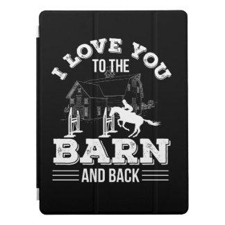 Protection iPad Pro Je t'aime de grange à l'équitation de retour