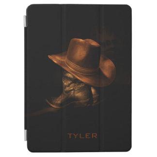 Protection iPad Pro Le casquette de cowboy et les bottes en cuir