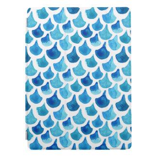 Protection iPad Pro Motif bleu d'échelle d'aquarelle