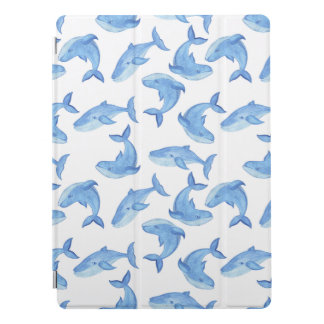 Protection iPad Pro Motif de baleine bleue d'aquarelle
