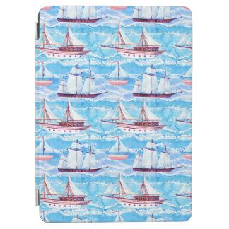 Protection iPad Pro Motif de bateaux de navigation d'aquarelle
