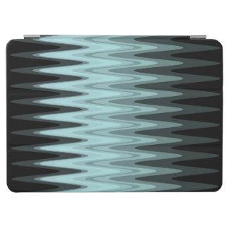 Protection iPad Pro Motif gris turquoise noir de zigzag