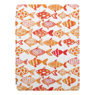 Protection iPad Pro Motif orange lumineux de poissons d'aquarelle