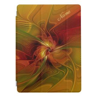 Protection iPad Pro Nom vert orange rouge abstrait d'art de fractale