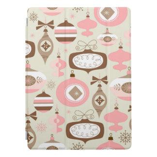 Protection iPad Pro Ornements roses et gris vintages de Noël