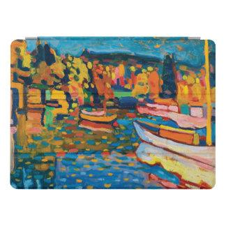 Protection iPad Pro Paysage d'automne avec des bateaux par Wassily